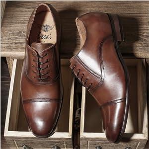 Desai Zapatos con Cordones de Cuero Hombre: Amazon.es: Zapatos y ...