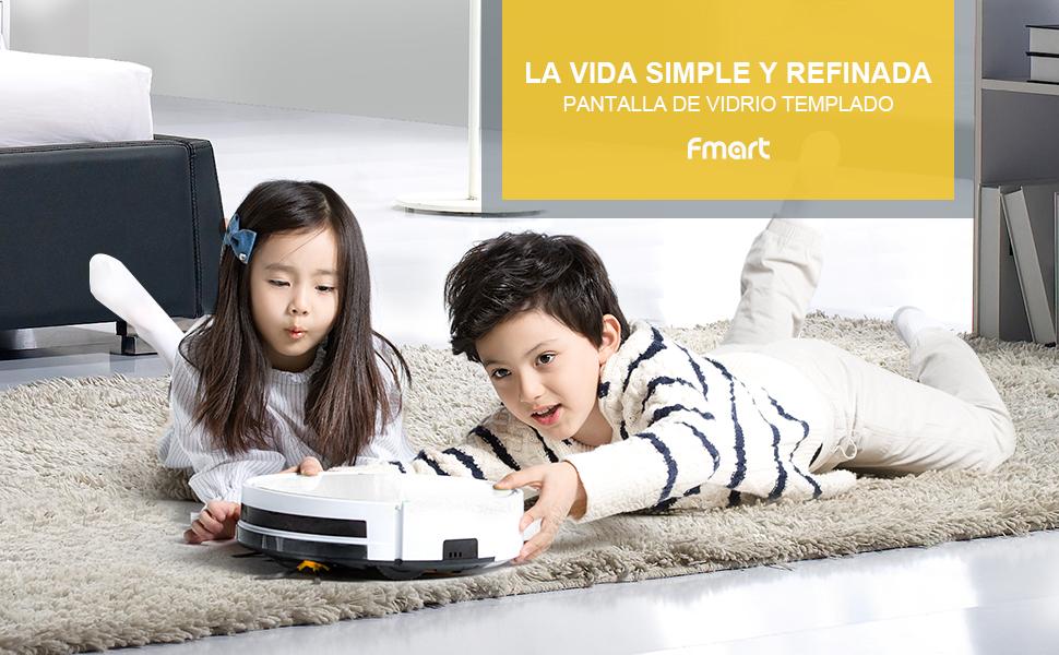 Fmart Casa Robot Aspirador FM-R570 Limpieza de Suelos para Vida ...