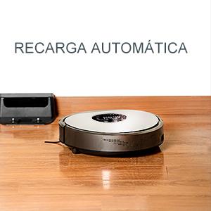 Fmart Robot Aspirador Automático Robot Aspirador con Fuerte succión y Filtro de HEPA UV esterilice Carga automática Robot Aspirador para Alfombra de ...