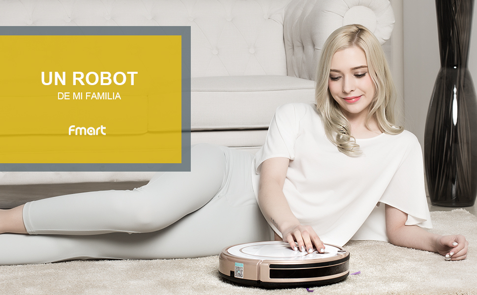 Fmart Robots Aspiradors ZJ-C1 Limpiador de alfombras de Piso ...