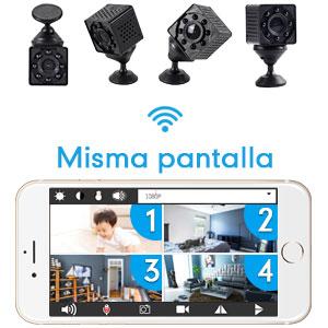 Mini cámara espía wifi para teléfono vista remota