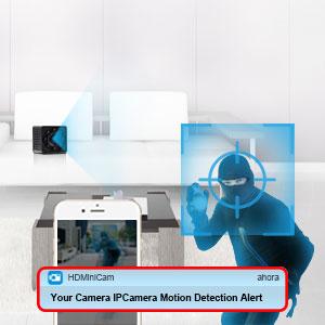 mini cámara oculta detección de movimiento alarma de empuje