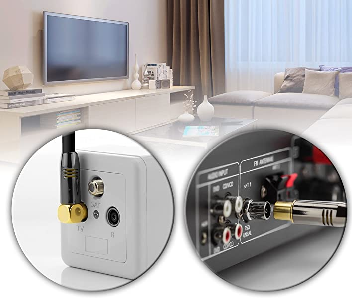 deleyCON TV Cable de antena Cable coaxial