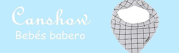 CANSHOW 8 Pcs Unisexos Baberos Bebe Bandana Super Suave Absorbente ...