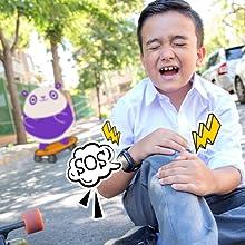 Botón SOS, Llamada de emergencia, SoyMomo, teléfono niños, GPS niños, Smartwatch niños