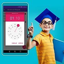 Horario de bloqueo, Bloqueo clases, SoyMomo, teléfono niños, GPS niños, Smartwatch niños