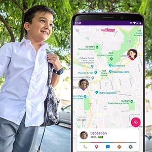 Localizador, Geolocalización, Tiempo real, SoyMomo, teléfono niños, GPS niños, Smartwatch niños