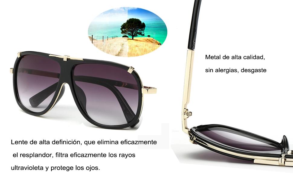 Utilice lentes de alta definición con engrosamiento mejorado para disfrutar de una visión clara.