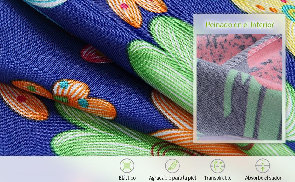 La imagen nos muestra unos leggings elásticos con un bonito estampado.