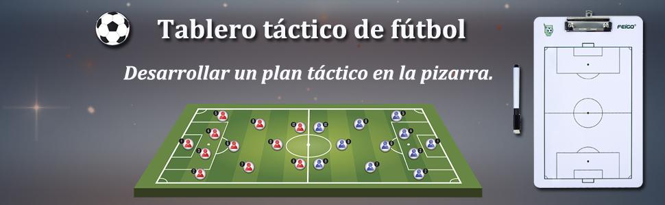 FEIGO Carpeta Pizarra Táctica Tablero de Entrenamiento Entrenador de Fútbol Portátil Profesional