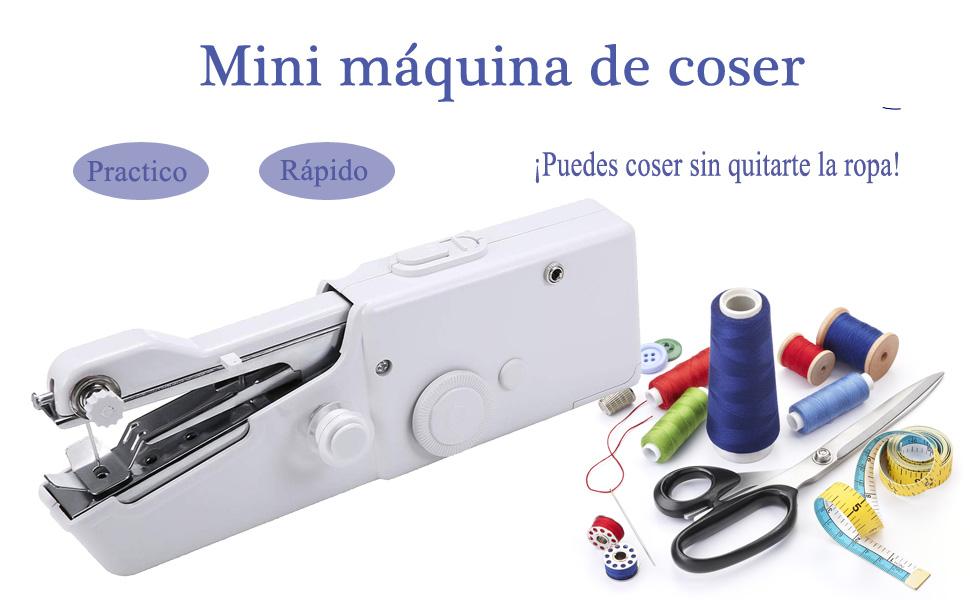 FEIGO Mini Máquina de Coser Manual Portátil Herramienta de Puntada Rápida para Cortina Ropa Tela para Tela, Ropa o ...