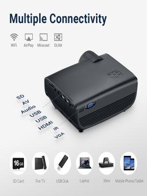 YONTEX Proyector WiFi (Inalámbrico 3600-Negro)