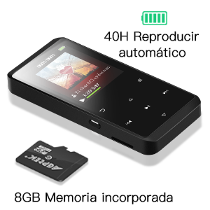 AGPTEK Reproductor MP3 8GB Bluetooth 4.0, A07B Reproductor