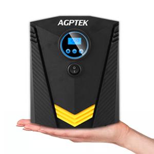 AGPTEK Compresor de Aire Portátil Inflador Eléctrico Bomba de Aire 12V con Pantalla Digital LCD y Luz LED, Presión de 150PSI para ...
