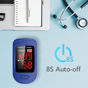 AGPTEK Oxímetro de Pulso, Pulsioxímetro de Dedo Digital con Pantalla LED, Lectura Instantánea, Aprobado por CE, Color Azul