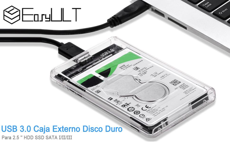 EasyULT Caja Externo para Disco Duro de 2.5