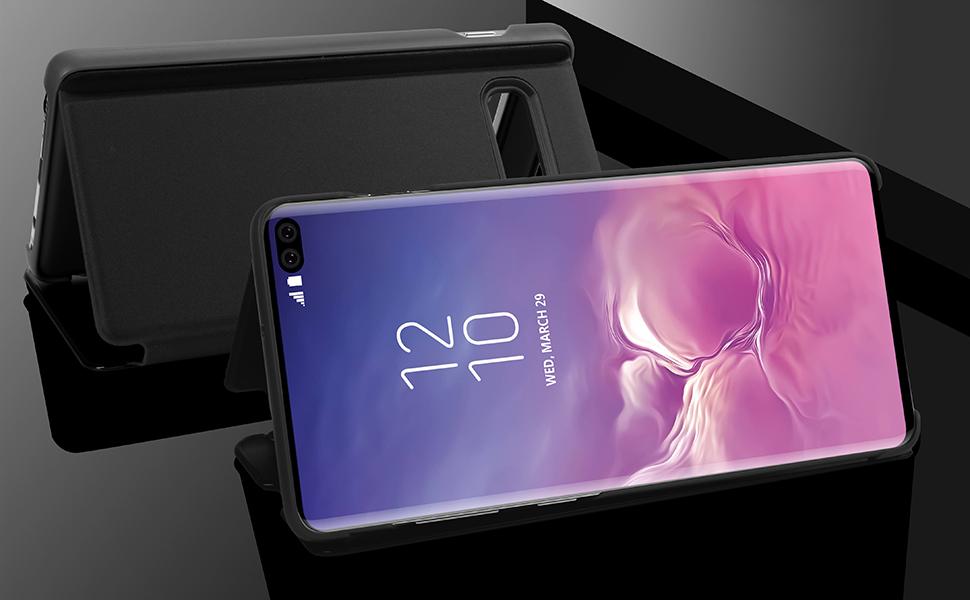 AICase - Carcasa para Samsung Galaxy Note 8, con Espejo translúcido, con Tapa y Soporte para galvanizado, para Samsung Galaxy Note 8