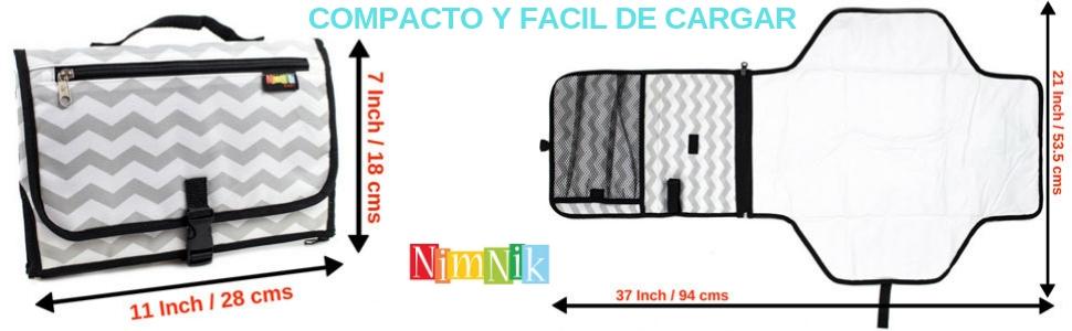 cambiador portatil de pañales para bebes cambiador de viaje util comfortable