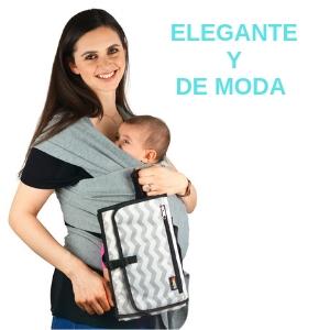 Cambiador portatil para bebes de pañales elegante diseño para transportar lo necesario del bebe