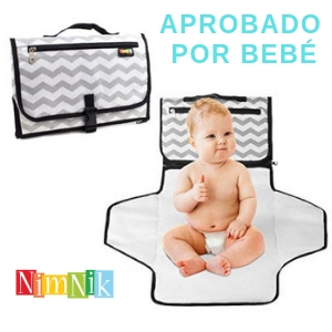 Cambiador portatil para bebes de pañales ideal para viajes comodo e ideal para bebes