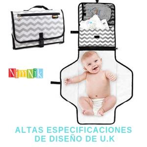 Cambiador portatil para bebes de pañales diseño ideal numero uno para uso de bebes y madres
