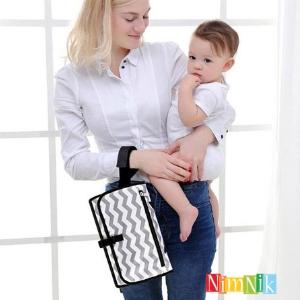 Cambiador portatil para bebes de pañales mas util practico sencillo sin olores comodo para tu bebe
