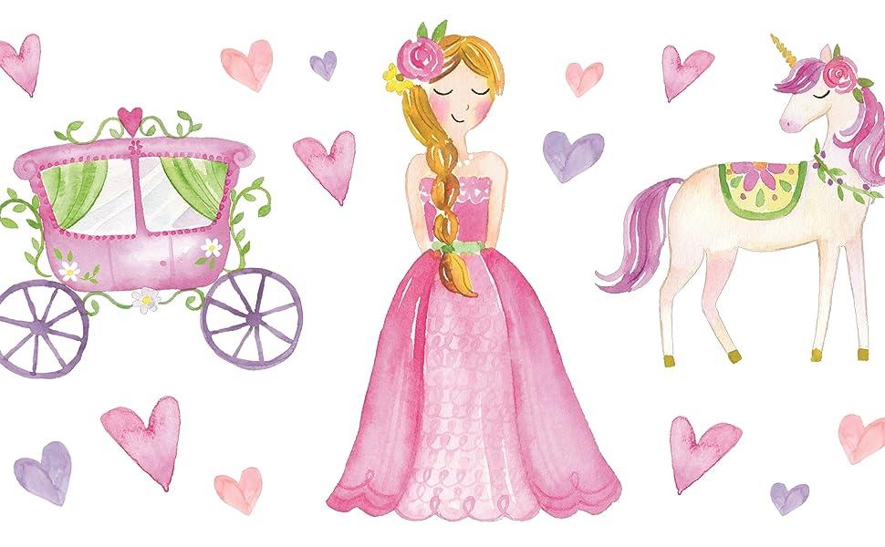 JewelKeeper tema princesa y unicornio A1803