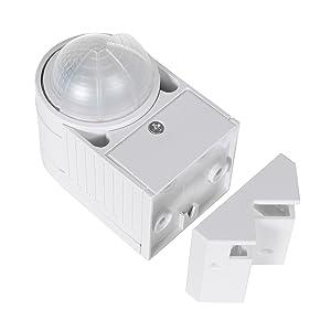 ahorro de energ/ía Sensor de movimiento infrarrojo pir moderno Maclean Energy MCE202 12m 360 /°