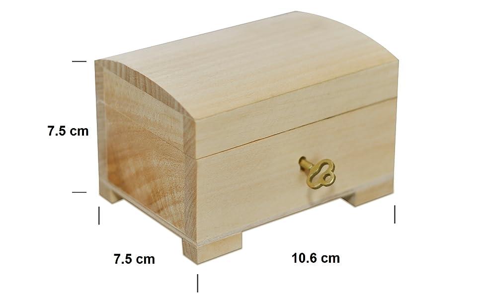 Pequeña caja con cerradura