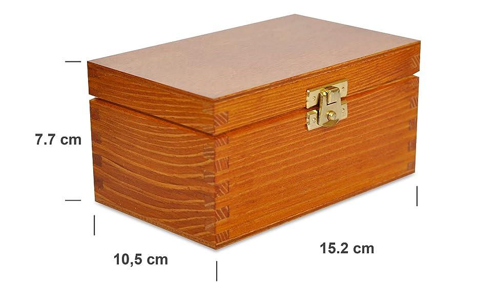 Aliso Caja para Té Bolsita Madera | 2 Compartimentos | 15,2 ...