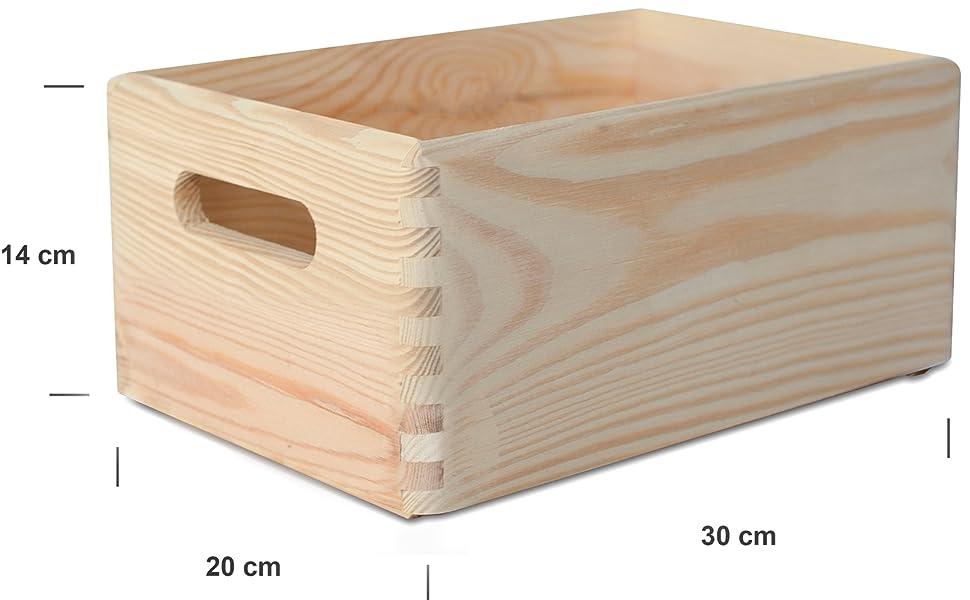 Creative Deco Grande Caja de Madera para Decorar | 30 x 20 x 14 cm ...