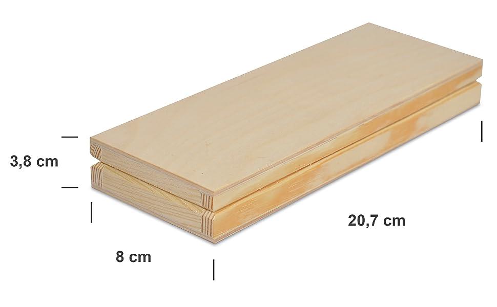 Creative Deco Estuche Escolar de Madera   1 Compartimento   20,7 x 8 x 3,8 cm   Caja con Tapa para Decorar y Decoupage Bolígrafos Lápices Crayones Notas   Organizador Arte y Artesanía: Amazon.es: Hogar