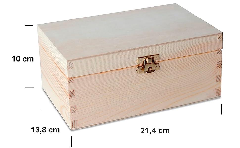 Creative Deco Pequeña Caja Madera para Decorar | 21.4 x 13.8 x 10 ...
