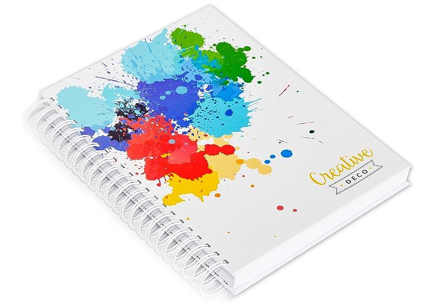Creative Deco 2 x A4 Blocs de Dibujo Cuaderno Libreta | Total de 400 páginas | Set de 170 gsm con Cubierta Dura Espiral Dibujar Pintar Esbozar Colorear y como Material Escolar: Amazon.es: Hogar