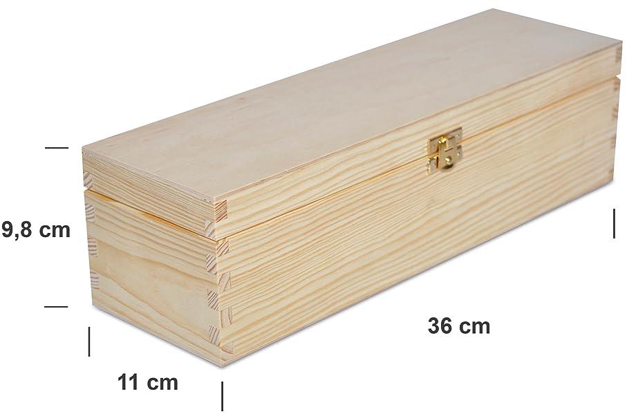 Creative Deco Caja Madera Vino para Decorar   1 Botella   35,1 x 11 x 9,8 cm   con Tapa y Bisagra   Perfecta para Regalo Decoupage Decoración Almacenamiento Manualidades: Amazon.es: Hogar