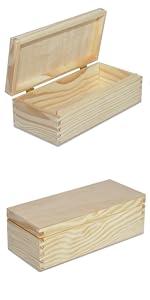 Caja de joyería cuadrada de madera · Caja de madera alta con cierre · Caja de madera larga con cierre · Joyero largo de madera · Caja de madera para CD y ...