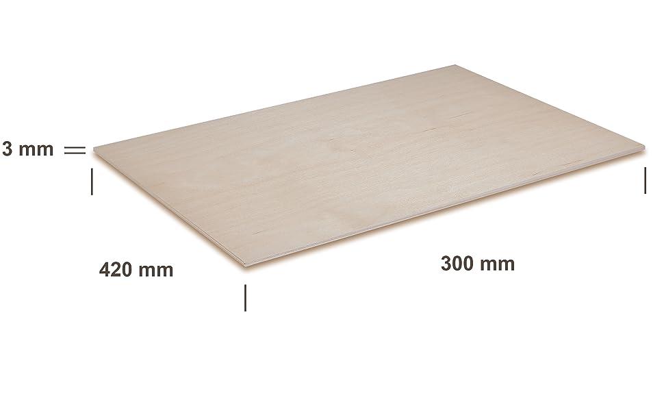 Set de 30 tableros Manualidades Ideal para Pirograbado CNC Router Madera Maciza Abedul para Bricolaje Chely Intermarket,tablero contrachapado 3mm Corte por Laser A5-14,8 x 21 cm
