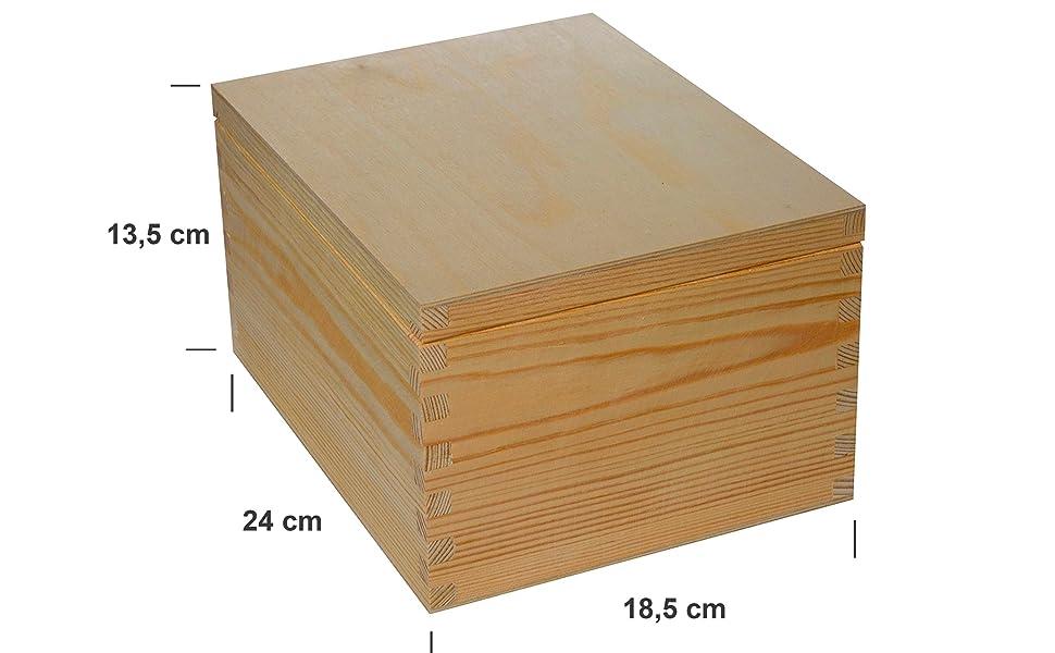 Caja de madera para CD y almacenamiento