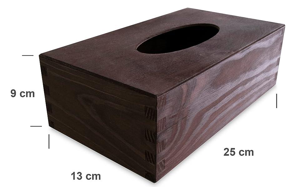 Creative Deco Caja Pañuelos Madera Papel | Umber Quemado | 25 x 13 ...