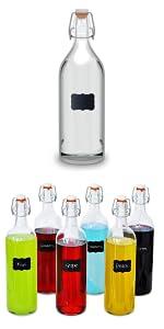 ... 6 x Botellas Cristal 1 Litro ...