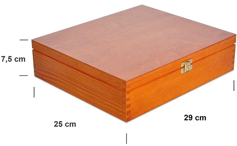 Aliso Caja para Té Bolsita Madera | 12 Compartimentos | 29 x ...