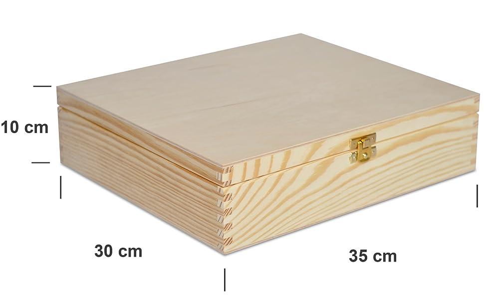 Caja de Madera Para Vino con 3 Espacios