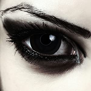 Black colored contacts mini sclera carnival halloween zombie witch make-up costume big eye effect