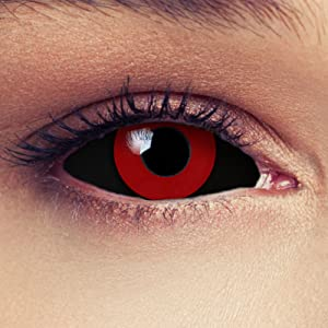 Red colored full sclera 22mm contacts halloween Tokyo Ghoul Kaneki ken Saw doll costume cosplay