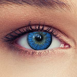 Natural looking aqua blue colored contacts without power contact lenses no power for dark eyes
