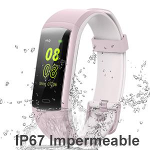 willful Pulsera de Actividad, Pulsera Inteligente con Pulsómetro Reloj Inteligente Impermeable IP68 Pulsera para Deporte Pulsera Actividad Inteligente ...