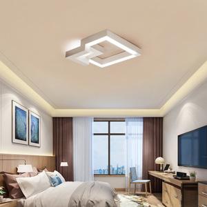 ZMH Lampara De Techo 30W Control Remoto Regulable 2400lm,Frío Blanco(puede cambiar tres colores) Moderna LED Luz De Techo Diseño Geométrico para Baño ...