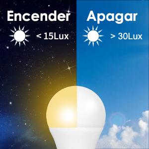 Bombillas Sensor Crepuscular, Haofy Bombilla LED Sensor de Luz LED 9W Interruptor Automático Lámpara Exterior/Interior para Porche Patio Garaje Sótano (E26 / E27, 600lum, Blanco Cálido): Amazon.es: Iluminación