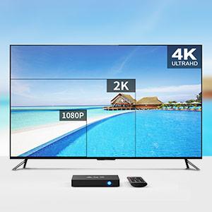 Android TV Box- TICTID AX9 MAX TV Box con Mini Teclado inalámbirco con touchpad 2GB/16GB EMMC Quad-Core 64-bit Cortex-A53 2.4G WiFi/ H.265 DLNA /4K Smart TV Box: Amazon.es: Electrónica