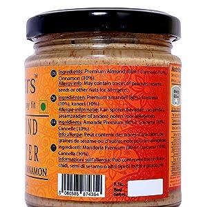 Mantequilla de almendra canela y cúrcuma Fitjars-200g℮: Amazon.es ...